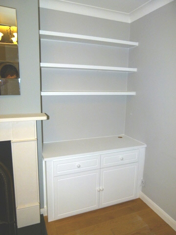 fitted alcove media cabinets