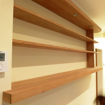 walnut shelving